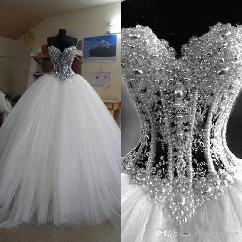 Wedding Ball Gowns Sweetheart Neckline: Real Photos Ball Gowns Sweetheart Neckline Dropped Waist