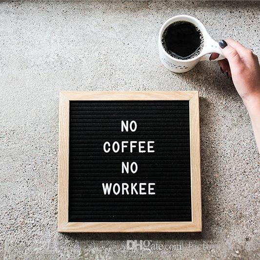 2019 black felt letter board changeable letters puzzle boards free craft knife oak wood frame message board for office business free dhl 574 from