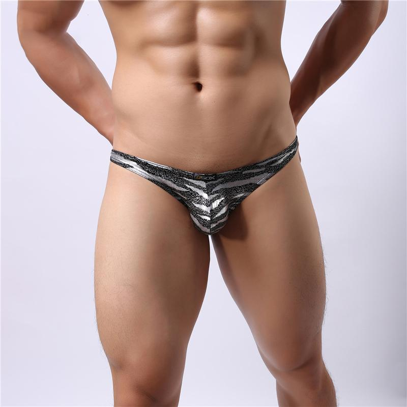 2ddade70b Sexy Men s Underwear Leopard Print Gay Men Briefs Smooth Trunks High ...