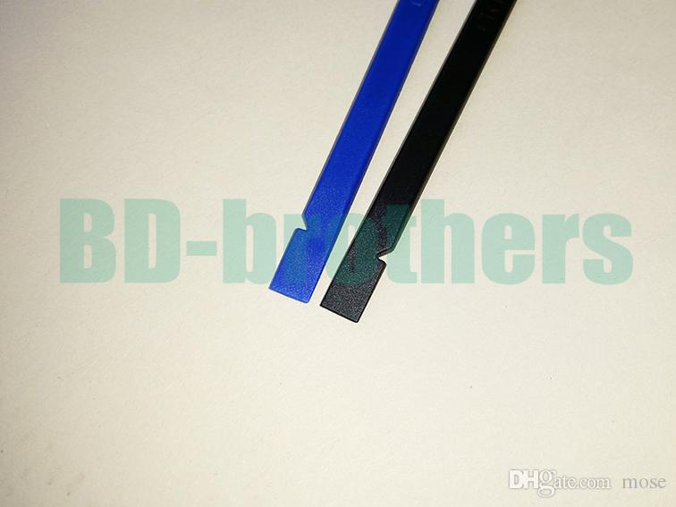 Outil de levier de câble plat en plastique antistatique noir / bleu 15CM Spudger Bar réparation de levier de levier pour outils Android pour iPhone Android /