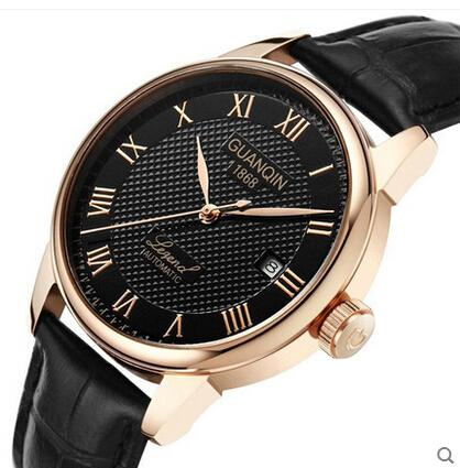2015 guanqin men mechanical hand wind watches men luxury brand rh dhgate com Best Wind Up Watches Military Issue Watches Mechanical Wind
