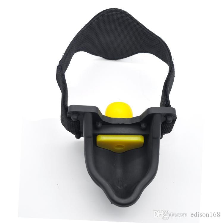 2017 Silicone Piss Urinoir Bouche Gag Head Harnais Bondage Ceinture Avec Gag Ball Slave BDSM Sex Toys Pour Adulte Mâle Femelle Jeux Érotiques A331