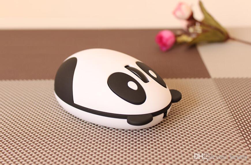 Adorável Panda USB mouse sem fio, 2.4G sem fio recarregável mouse, built-in lítio recarregável mouse sem fio computador