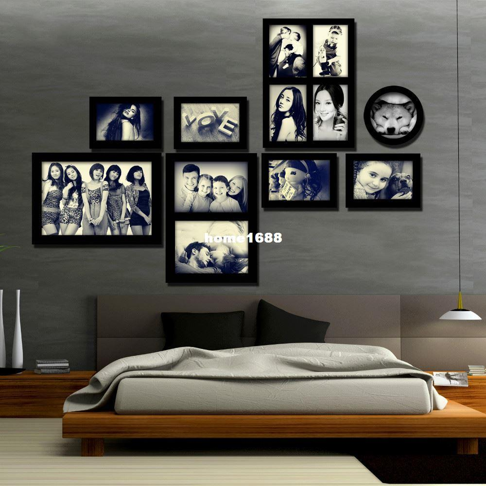 BIG SIZE Creative Modern Wall Wood Frames with Round Frames ...
