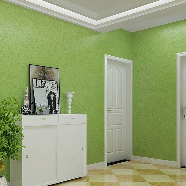 Light Green Modern Minimalist Living Room Bedroom Wallpaper Plain