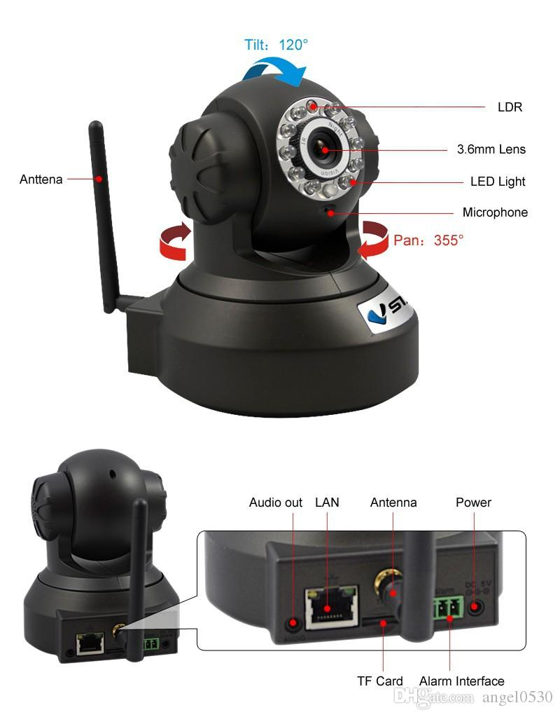 VStarcam Hot Product H6837WIP P/T P2P IR-CUT Wifi Infrared IP Camera for iOS/Android/PC with TF Micro Slot Alarm WiFi IP Cam