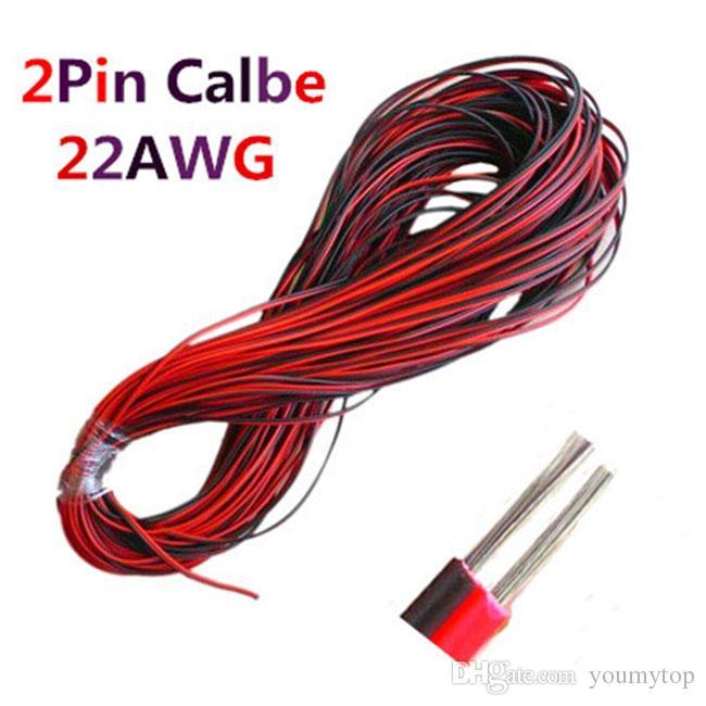 LED Berufslieferant 2pins LED Verlängerungsdrahtkabel, Kupferdraht, Kabel 2 Stift Draht für Streifenlicht Ton Stromversorgung, freies Verschiffen
