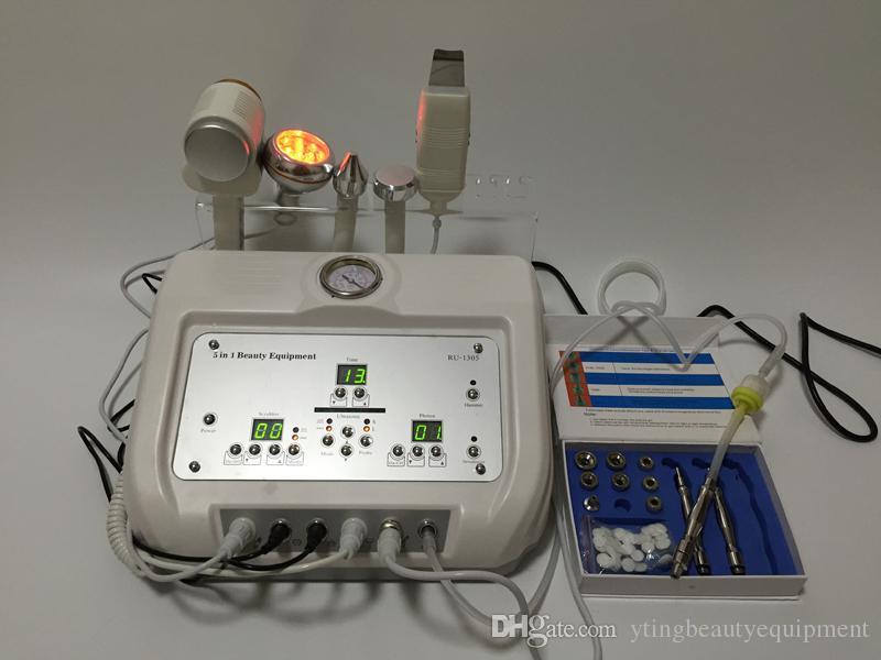 5in1 portable professional microdermabrasion machine Ultrasound Skin Scrubber photon rejuvenation