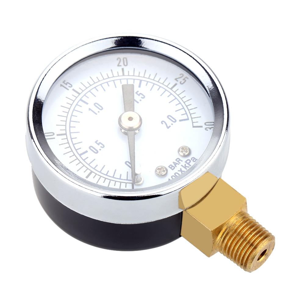 Hydraulic Pressure Gauge Gage Mini Pressure Measuring Instruments Fine Dial Manometer Double Scale Air Compressor Meter order<$18no track
