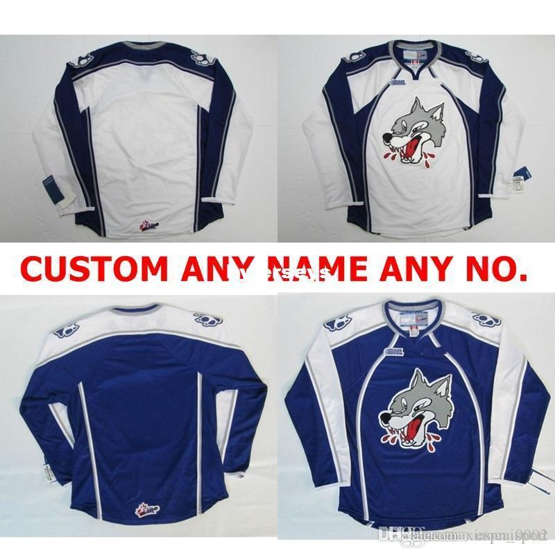 custom Customize OHL Sudbury Wolves Jersey Mens Womens Kids Personalized 100% Stitched Any Name NO.Ice Hockey Jerseys Goalit Cut Hot sale