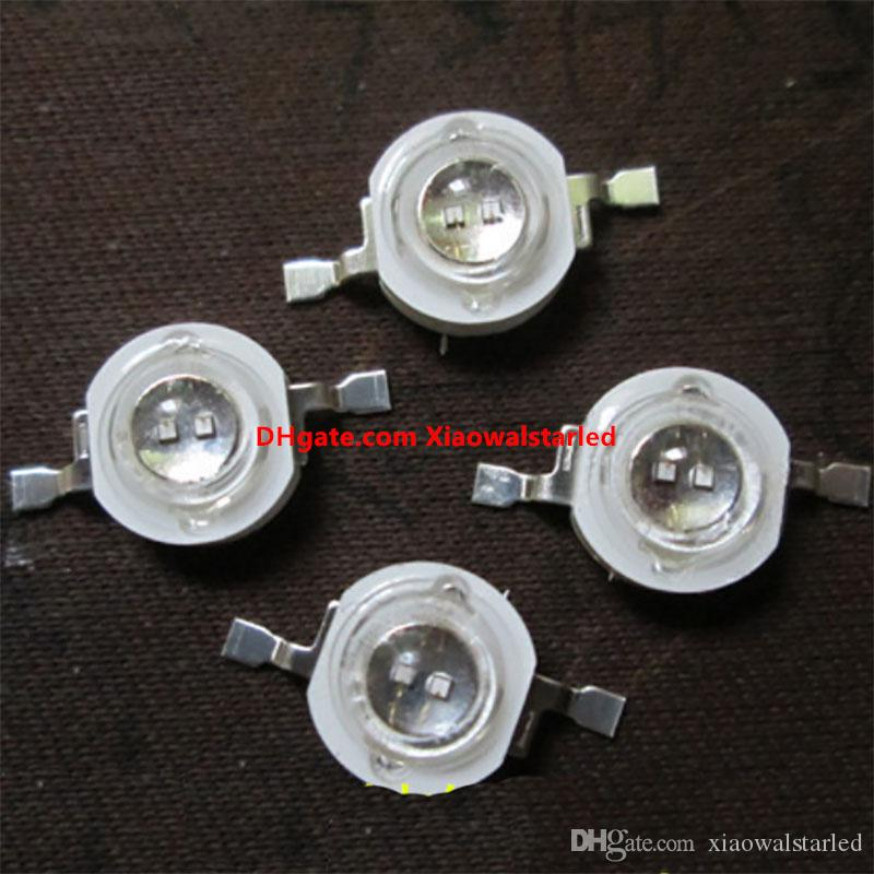 1W 3W 5W UV led diyot 365nm 385nm 405nm sterilizasyon fotokatalitik için mor Ultra viyole diyotlar 3w yüksek güç LED ampul lamba