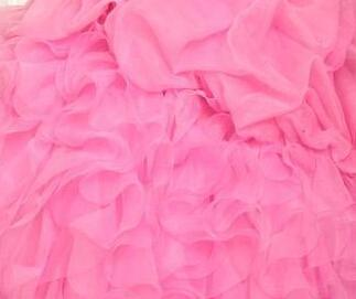 2015 Brand New Stock Ball Organza Avec Perles Quinceanera Robes Robes Robes De 15 Anos Party Robes Stock Taille: 2-16