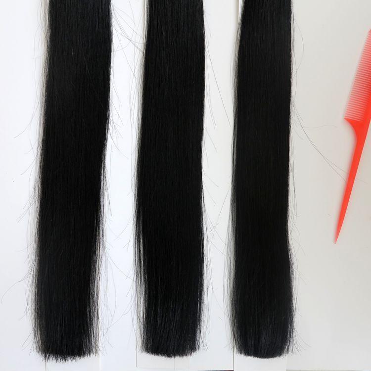 100g 1 Conjunto 100 Fios Prego U Dica pré-ligado extensões de cabelo 18 20 22 24 polegada # 1 / Jet Black Brasileiro cabelo Indiano Humano