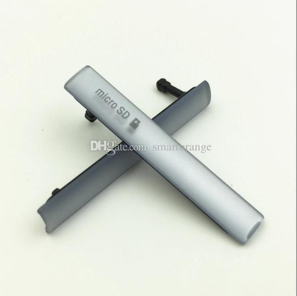 Slot porta do cartão micro sd porto sim + porta de carregamento usb plugue da tampa de poeira para sony xperia z3 mini z3 compacto m55w