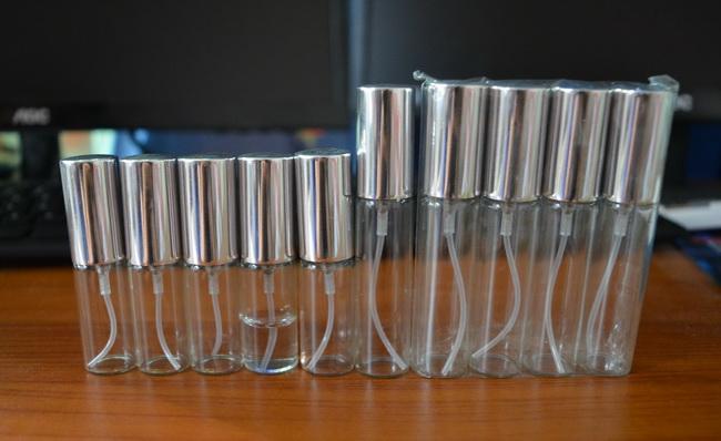 Toptan MINI 5 ML / 10 ml metal Alüminyum Boş Cam Parfüm Doldurulabilir Şişe Sprey Parfüm Atomlaştırıcılar Şişeleri DHL / EMS / Fedex Ücretsiz Kargo