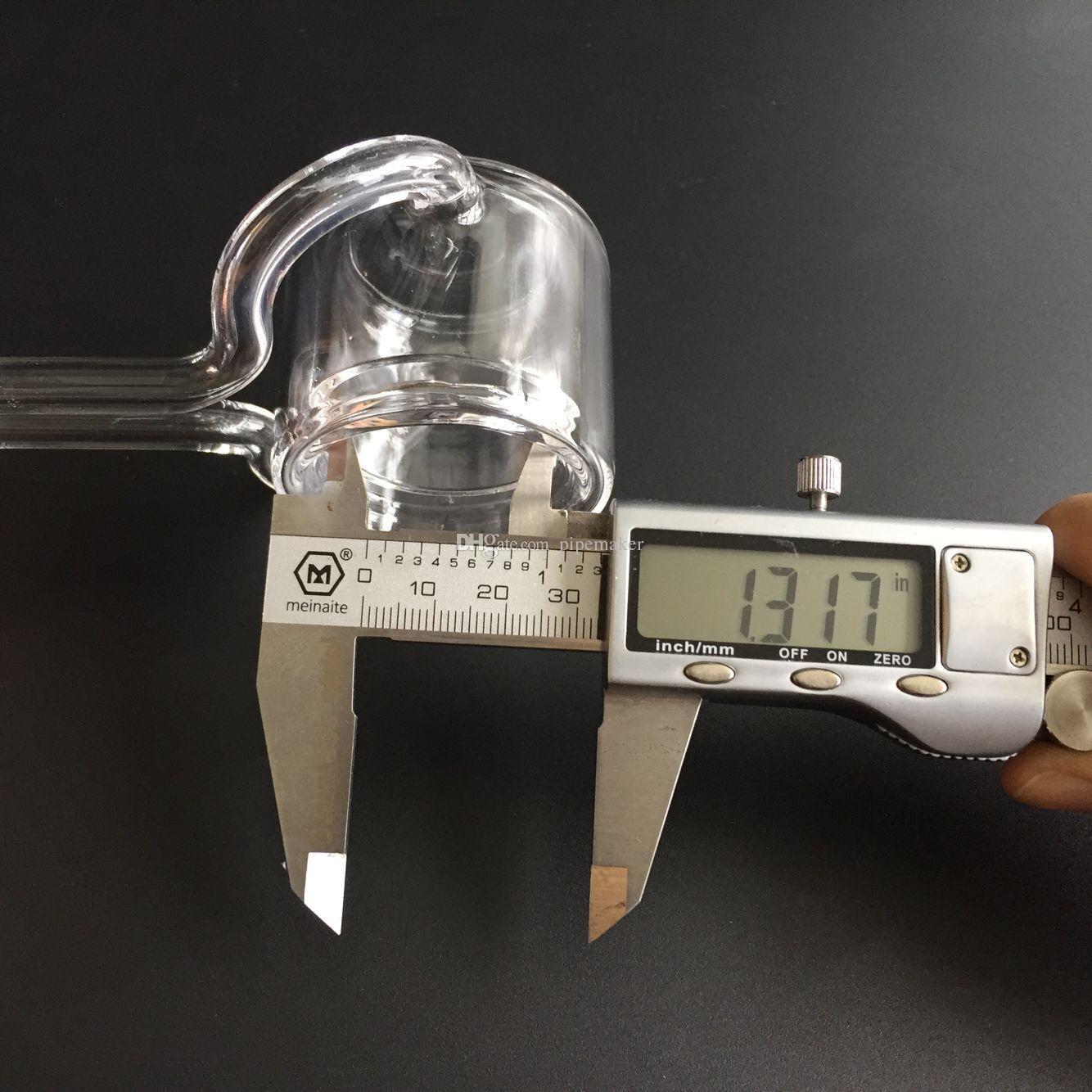 XXL Kuvars Termal Banger kuvars karbonhidrat kap 50mm OD 14mm 18mm Çift Tüp Için Kuvars Termal Banger Petrol Kuleleri bongs ücretsiz kargo