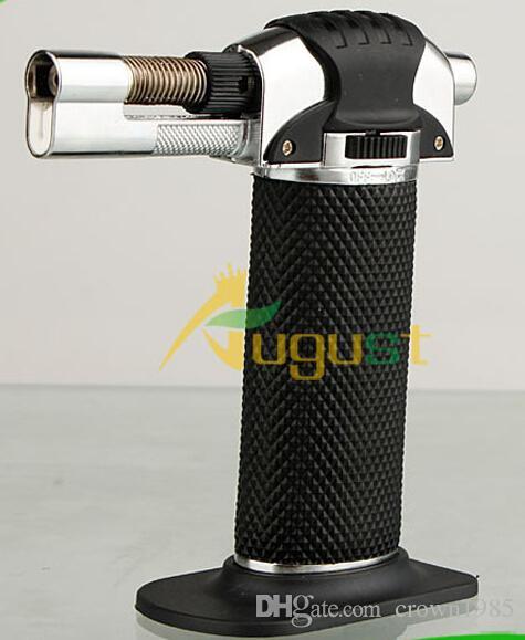 1300'C Metal Melting Butane Jet Torch lighter Portable brazing solderin Large Welding Soldering Butane Gas Windproof Jet Flame lighter