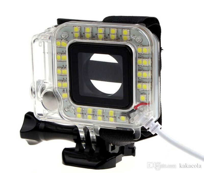 New arrives USB Lens Ring LED Flash Light Shooting Night For Sport Camera Hero 3+4