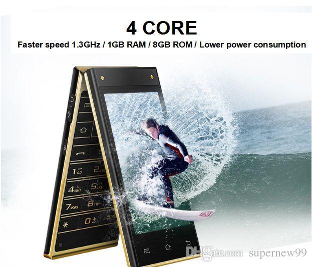 flip smart phone dual simcard dual digital camera dual touch screen large capacity battery big keys classic A100
