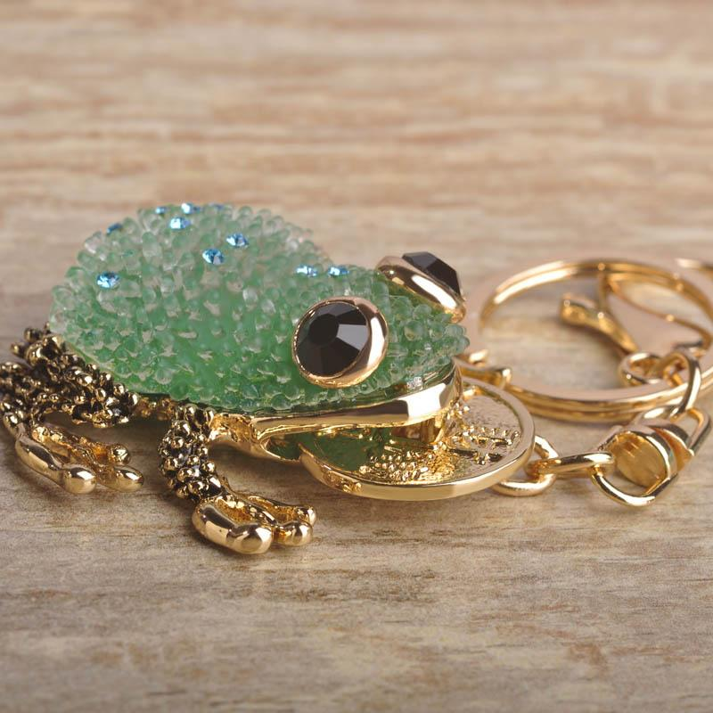 Blucome Kawaii Animal Green Blue Lucky Toad Keychains Women Present ... 0ebf0b073