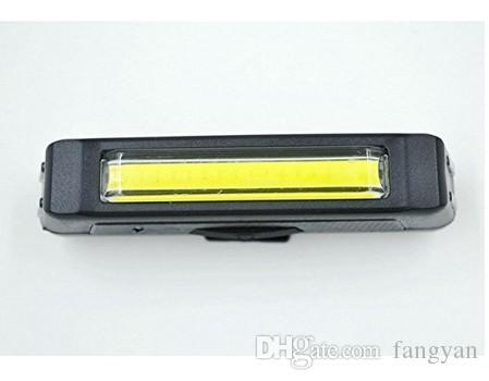Rechargeable par la lumière principale USB COB Vélo Vélo Avant Arrière Queue Casque Lampe Guidon Tube de cadre Clignotant 6 feux Mod Blanc