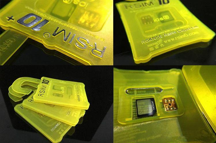 Dernières Hot Card Unlock originale RSIM 10+ RSIM 10 R 10 SIM + pour iPhone 4S 6S 6Splus IOS 9 5S 9.1 GSM CDMA WCDMA 3G 4G déblocage SIM 2G 11 10