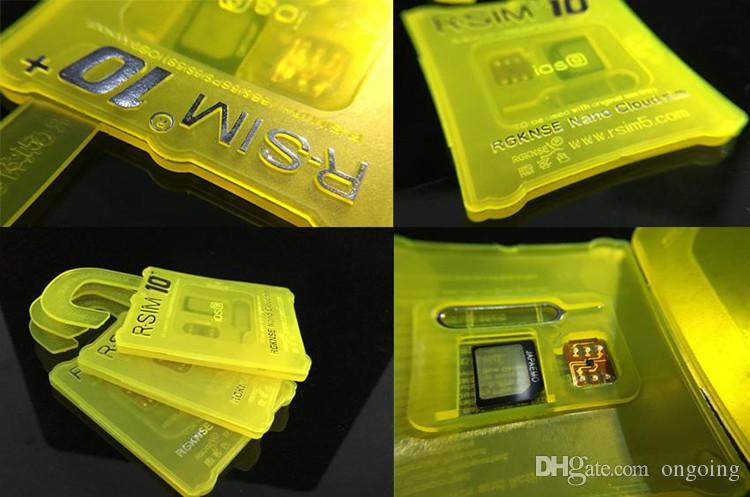 Rsim 10+ R-sim 10+ RSIM10 + PLUS Sblocca scheda iphone 6S 6 6plus 5s 4s Sblocco perfetto ATT T-mobile Sprint WCDMA GSM CDMA DHL