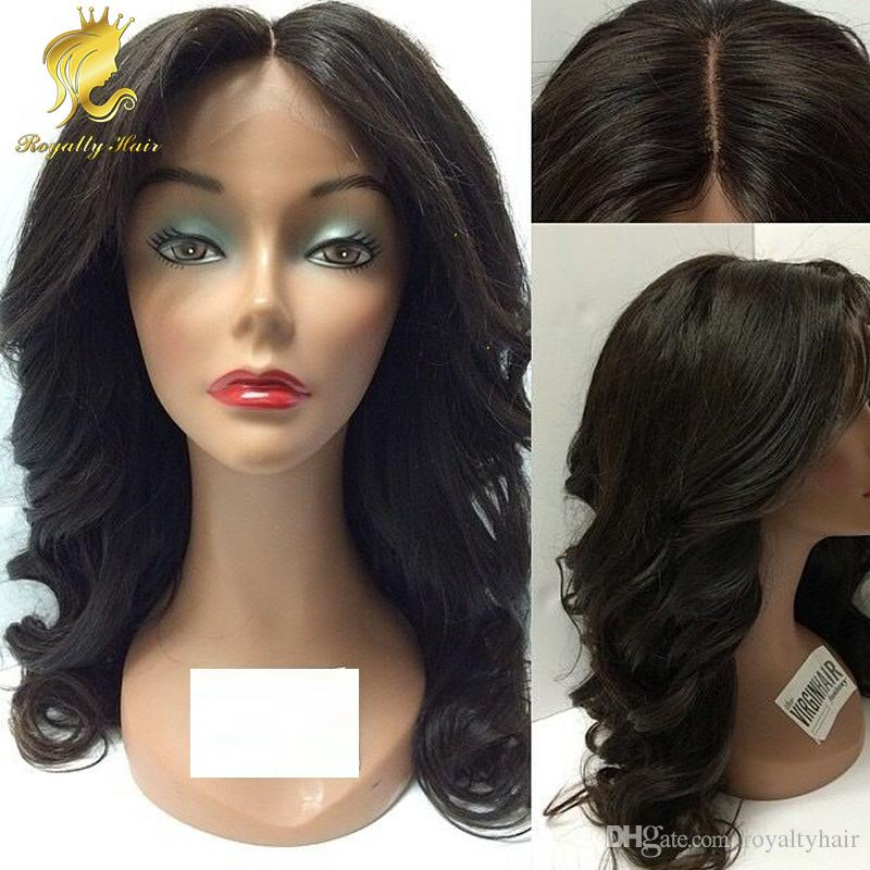 Wholesale Price silk base Wavy Brazilian Human Hair Glueless Full Lace Wig &Front Lace Wig middle part Best Human Hair Wig 130density