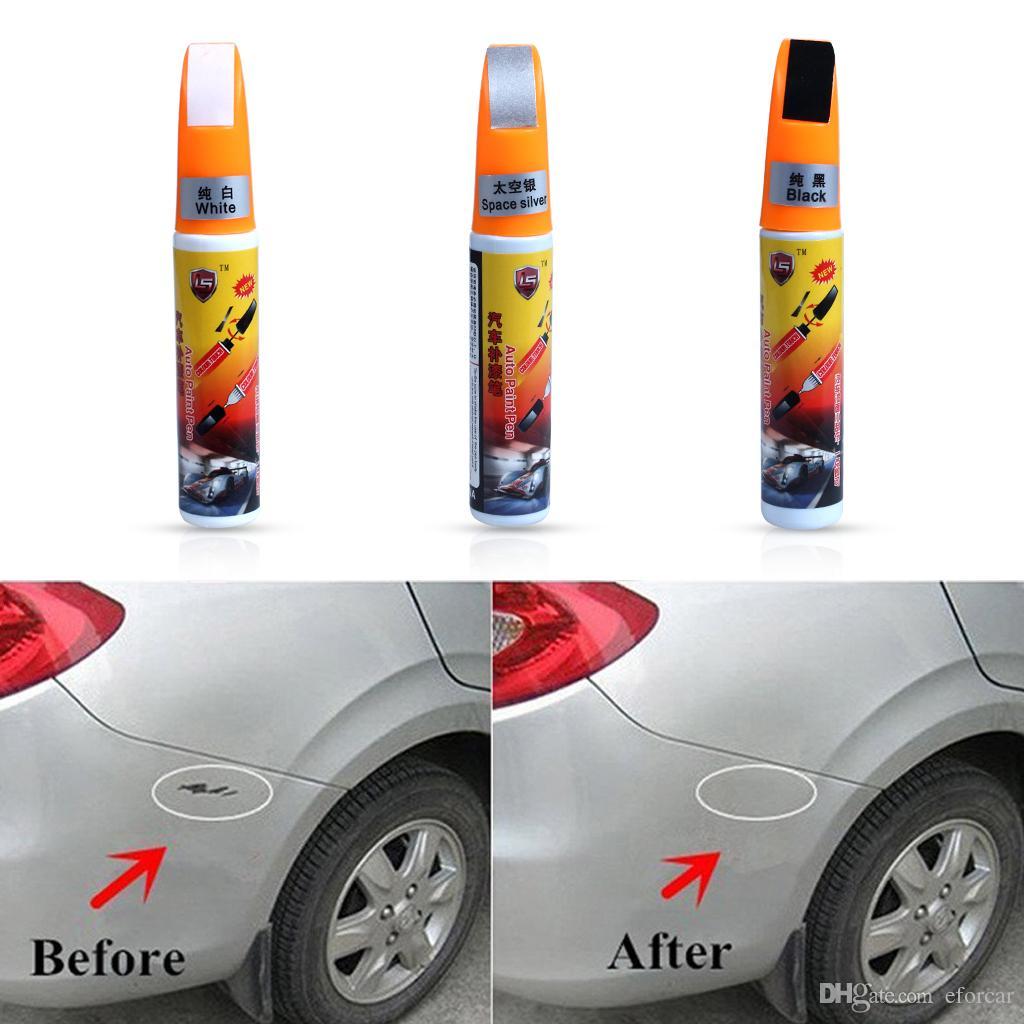 إصلاح السيارات خدش سيارة لمس الطلاء القلم أبيض أسود فضي 3 ألوان شحن مجاني