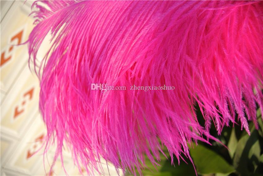 Groothandel struisvogel veer plumes hot roze 18-20