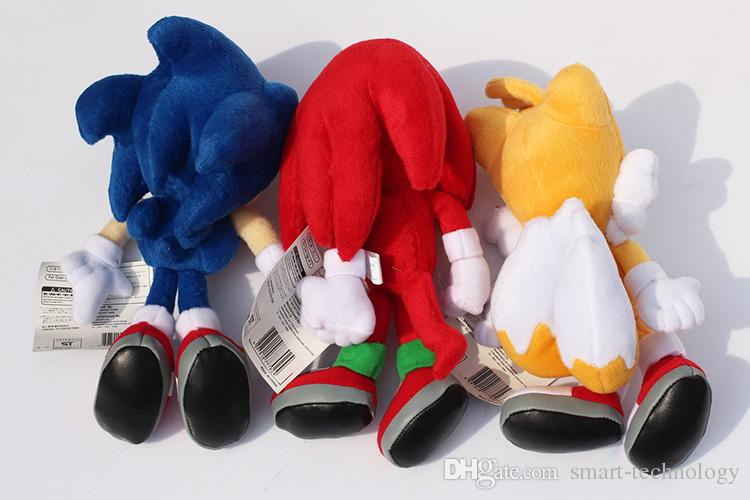 """New Arrival Sonic the hedgehog Sonic Tails Knuckles the Echidna Stuffed Plush Toys With Tag 9""""23cm Free Shippng"""