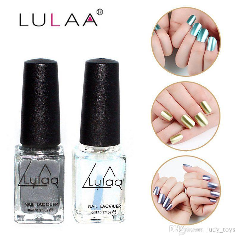 Metal Color Nail Polish es 6ml Mujeres Gel De Uñas Accesorios De ...