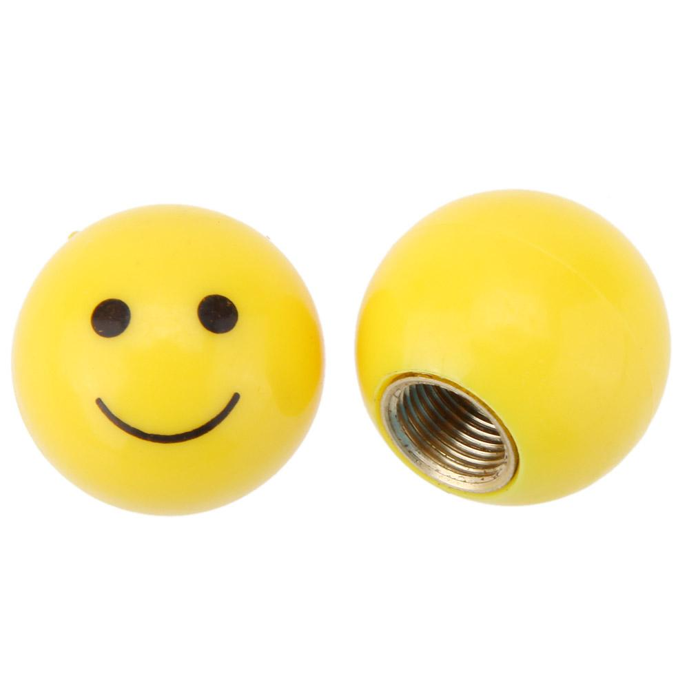 Smile Face Ball MTB Road Bicycle Bike Valve Cap Motor Car Schrader Valve Mouth Cover Tyre Stem Wheel Air Valve Dust Cap order<$18no tra