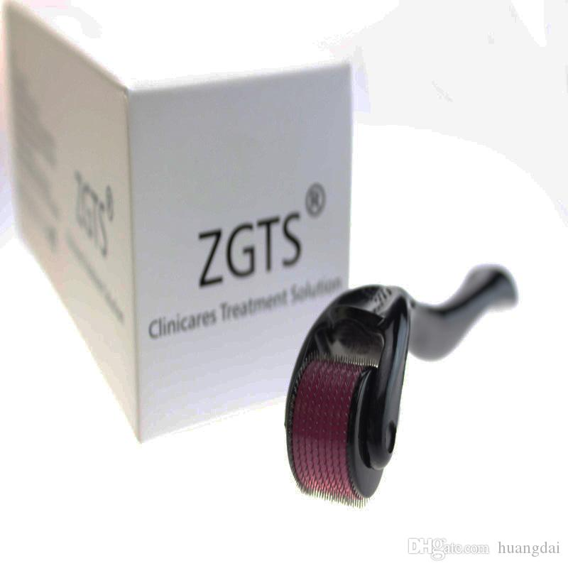 540 İğneler ile ZGTS dermaroller Microneedle Terapi Derma Rulo Anti aging Akne 0.2mm-2.5mm Plastik Tüp Ambalaj