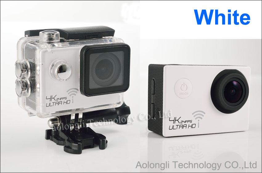Ultra HD 4K Cámara impermeable 24fps SJ8000 WiFi Cámara de acción deportiva 1080P / 60fps 2.0 LCD 170D Lente Casco Cam mini Videocámara DVR