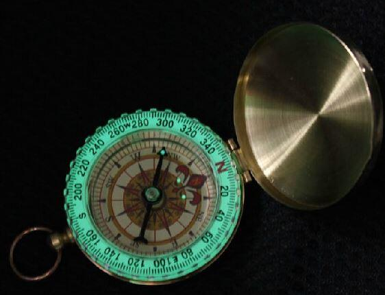 Mini Luminous Pocket Brass Watch Style Ring KeyChain Camping Hiking Compass Navigation Outdoor Compass