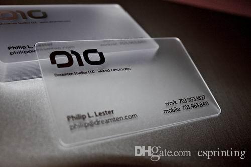 Acheter Transparent Carte De Visite En Plastique Cartes Impression 7036 Du Csprinting