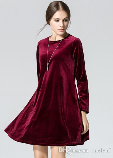 Winter Autumn Loose Girls Short Dress Size M To Plus Size Long