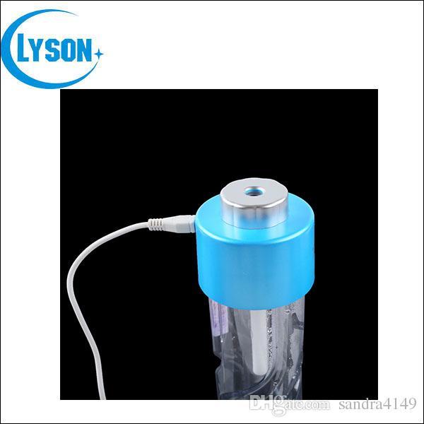 DHL Envío Gratis USB ABS Tapa de la Botella de Agua Mini Humidificador DC 5 V Oficina Tapa de la Botella difusor Aroma Niebla Fabricante 2 unids Barras de Filtro Absorbente