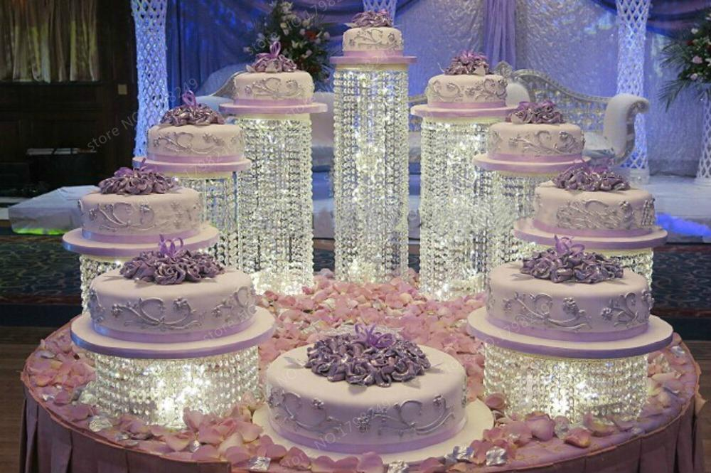 Wedding Crystal Transparent Acrylic Cake Stand Wedding ...