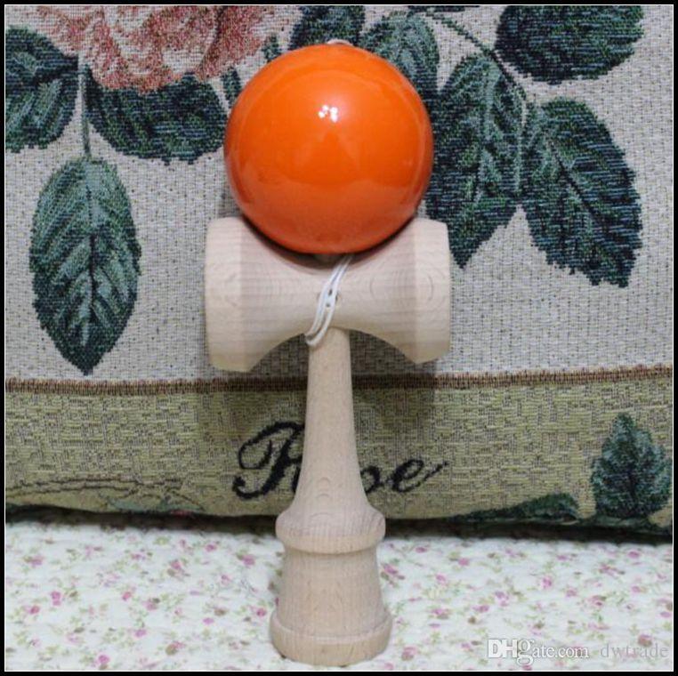 18.5 CM büyük boy Kendama Topu Japon Geleneksel Ahşap Oyun Oyuncak Eğitim Hediye rastgele Renkler yenilik oyunları oyuncaklar hediye J071502 # DHL