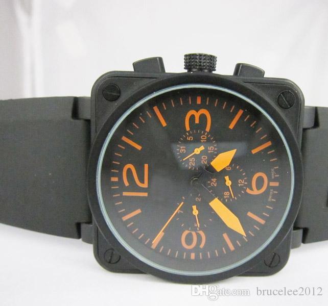 8aa8dd4106c4 Compre Hombres De Lujo Relojes Mecánicos Automáticos Mejores Marcas Día  Negro De Goma Fecha Suiza Vintage Cuadrado Antiguo Vestido Para Hombre Reloj  De ...