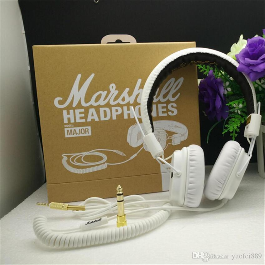 Marshall Major auriculares con micrófono Deep Bass DJ Hi-Fi Headset HiFi Headset Profesional DJ Monitor Auricular Original