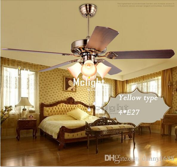 retro ceiling fan light led ceiling fan lights with remote control from danny1688 dhgatecom - Led Ceiling Fan