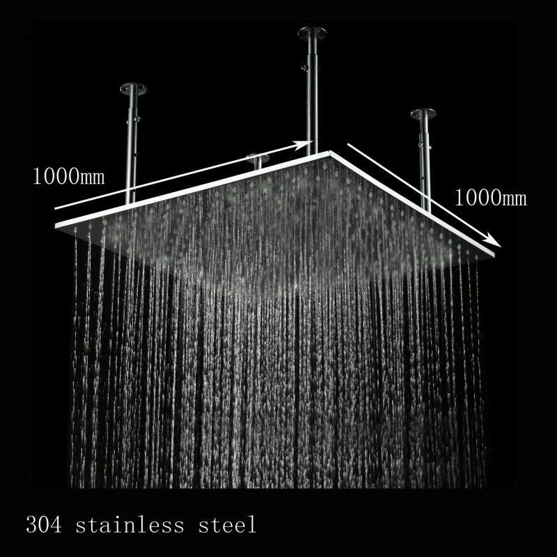 rain shower head water pressure. 2018 40 Inches Big Top Overhead Shower Water Pressure Powered Ceiling  Mounted Rain Head For Bathroom From Pwbesthome 806 85 Dhgate Com