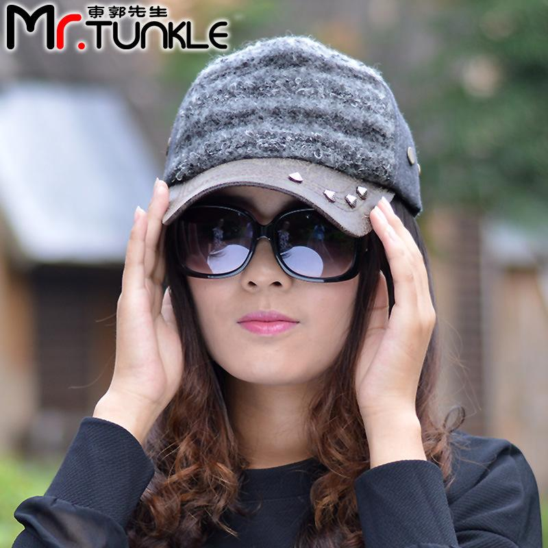 baseball cap trends 2016 trend of color knitting wool rivet leather brimmed hat men and women fall winter caps from trendy 2017