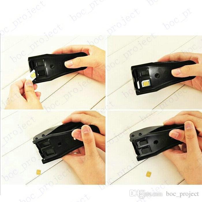 High Quality Dual 2 in 1 Micro Sim Cutter for iPhone 5 5S 6 6s plus Nano SIM Card SIM Adapter for Samsung Galaxy Regular Sim