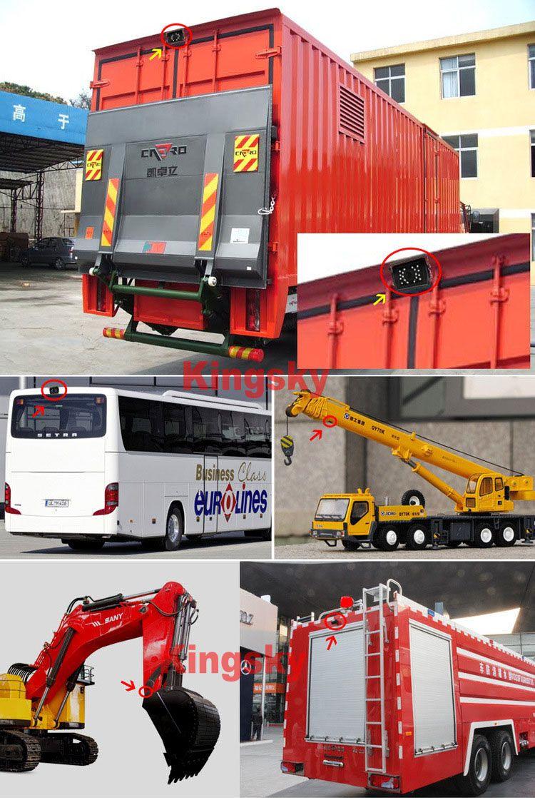"2 x 24V 18 LED IR Waterproof CCD Reverse parking Backup Camera 4Pin + 7"" LCD Monitor Car Caravan Truck Rear View Kit"