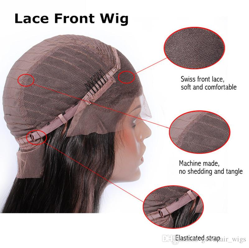 wholesale price Indian hair Lace Front Wig Peruvian Hair Full Lace Wig dark brown medium brown light brown color cap