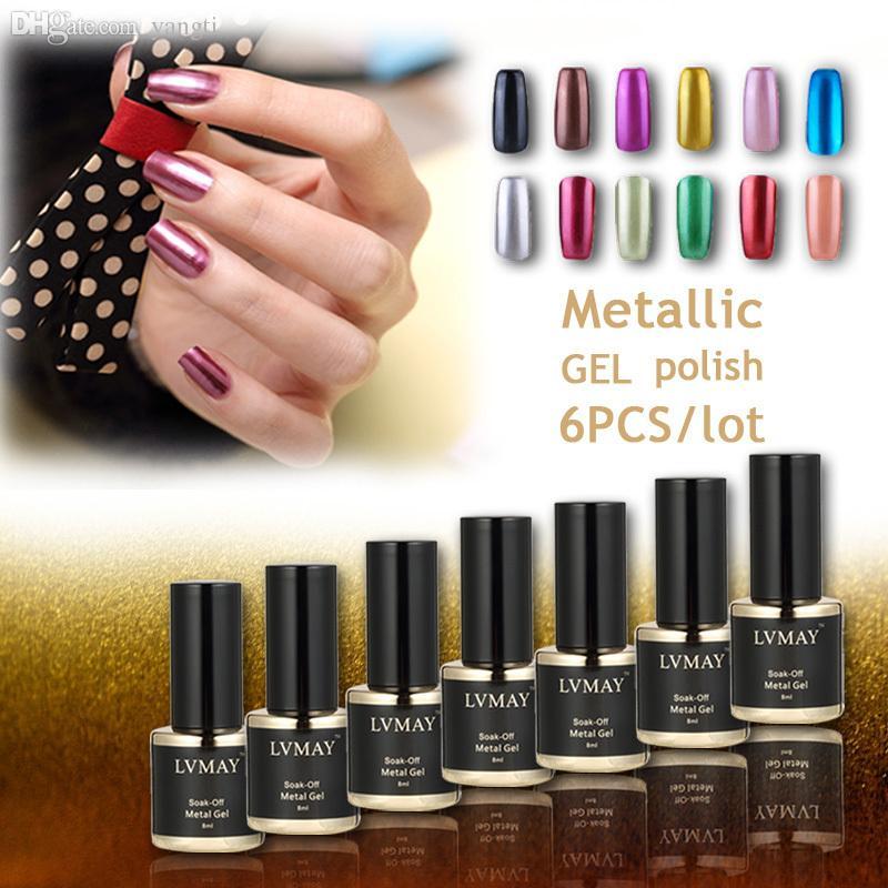Wholesale Brand New Metallic Nail Gel Polish Soak Off Nail Polish ...